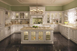 Wholesale kitchen cabinet with a low price,provide a range of customized kitchen