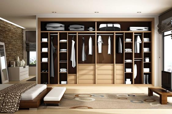 Laminate wardrobe-WALKIN CLOSET  09