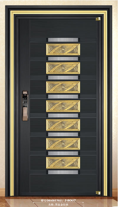 Steel entry doors-J-8007
