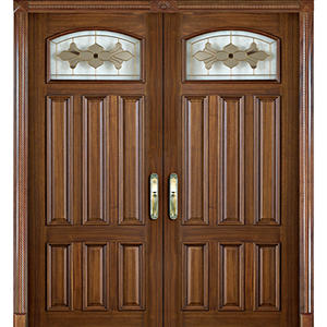 custom-made Wooden glass door,solid wood door, preferred BuilDec