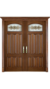Wooden glass door-LD-060