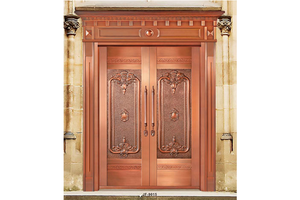 fashion Double entry doors,Copper Door, preferred BuilDec, experienced