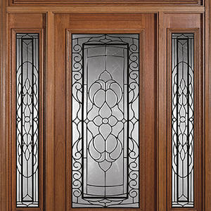 fashion wooden door with glass, solid wood door, preferred BuilDec, experienced
