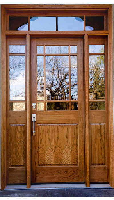 exterior doors with glass LDG-031