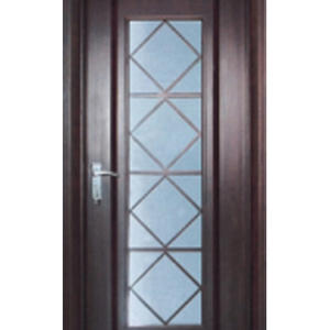 high quality glass basement door, semi-solid wood door, preferred BuilDec