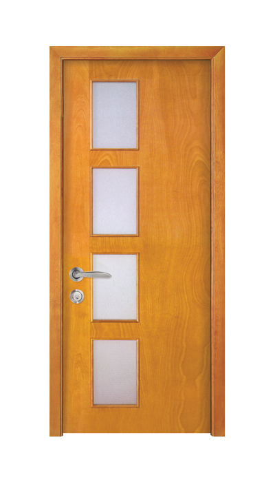 wooden front doors with glass SDG-065