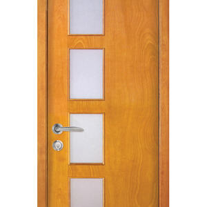 fashion wooden front doors with glass, semi-solid wood door, preferred BuilDec