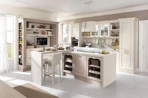 solid wood kitchen with a low price,provide a range of customized kitchen.
