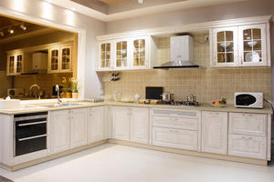 l shape kitchen with a low price,provide a range of customized kitchen.