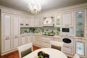 luxury kitchen cabinet with a low price,provide a range of customized kitchen.