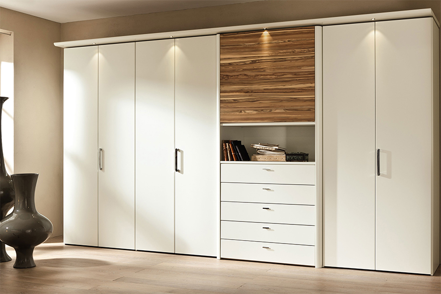 White Bedroom Furniture - WARDROBE 005
