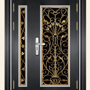 fashion outside door and frame brands, professional manufacture of security door