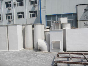 China FRP inorganic ventilation pipe factory