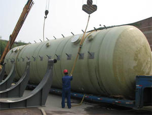 China FRP horizontal tank factory