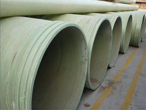 China Large-caliber frp plastic pipe factory