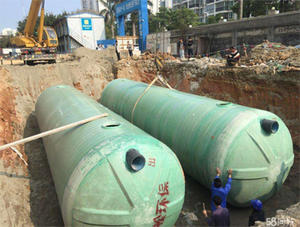 China Large FRP winding septic tank factory