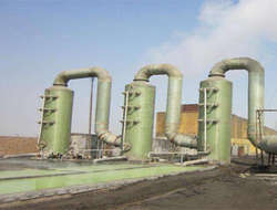 FRP desulfurization tower