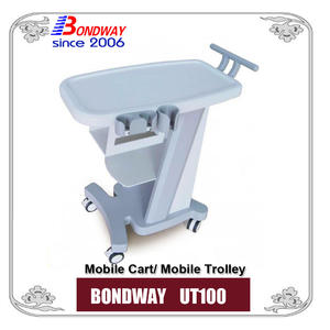 Mobile trolley, mobile cart, made of ABS, for portable medical device