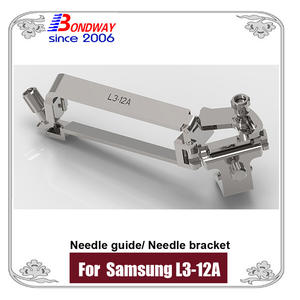 Needle bracket, needle guide for Samsung Medison L3-12A ultrasound transducer