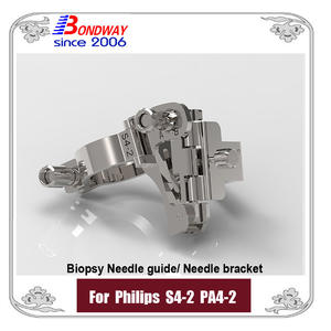 Philips biopsy needle guide PA4-2 S4-2 phased array transducer, needle bracket