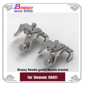 Siemens biopsy needle guide for convex transducer CA431, biopsy needle bracket