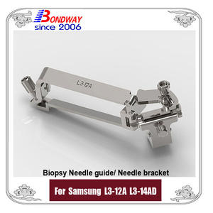 Biopsy needle bracket for Samsung Medison L3-12A L3-14AD linear transducer