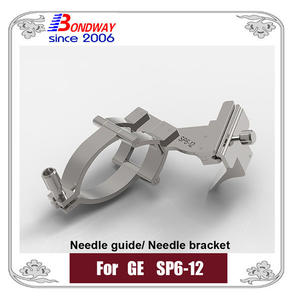 GE needle guide for ultrasound transducer SP6-12, GE biopsy needle bracket