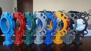 China Wafer Soft Seal Butterfly  Valve, lug rubber lined butterfly valve factory