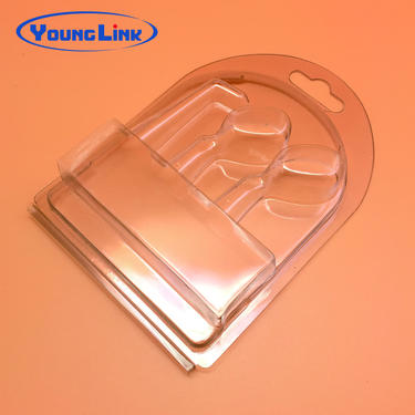 China custom clear pvc clamshell blister packaging