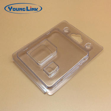 custom transparent pvc clamshell packaging