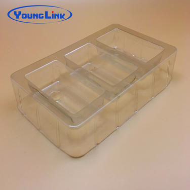 Personalization transparent pvc blister pack tray