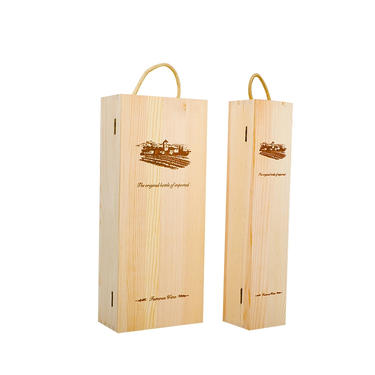 Hot Sale Customized Cheap Unfinished Wooden Wine Box