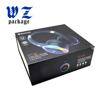 Luxury Printing Wireless Bluetooth Headphone Gift Cardboard Packaging Paper Box