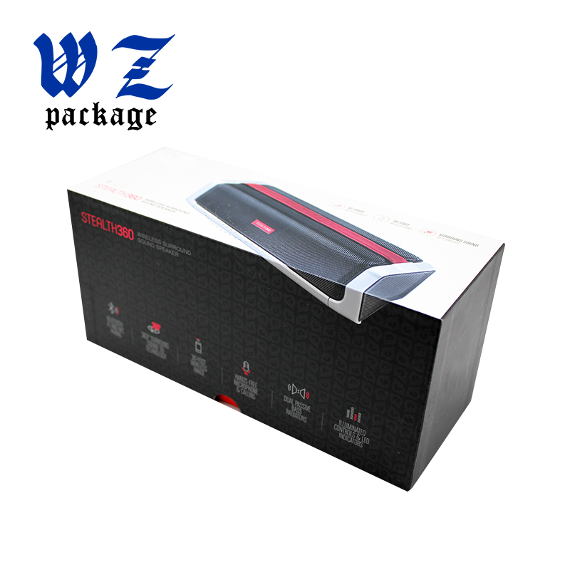 Custom Color Bluetooth Speaker Packaging Gift Paper Box