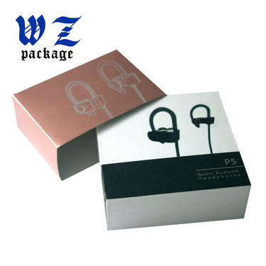 UV Coating Lid And Base Bluetooth Earphone Paper Gift Box