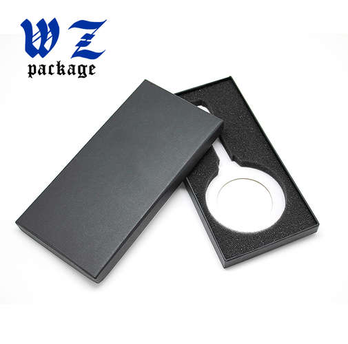 Black Lid And Base Wireless Charger Handmade Packaging Paper Box