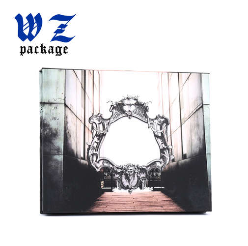 Custom Luxury Paper Eye Shadow Palette Packaging Box With Mirror