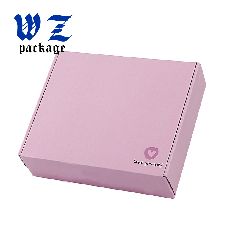 Custom Pink Color Carton Packing Box Corrugated Materials Shipping Box