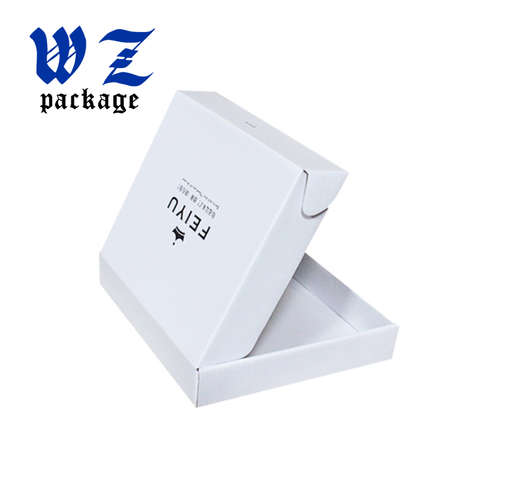 Custom Color Printed Logo White Corrugated Paper Mailing Boxes