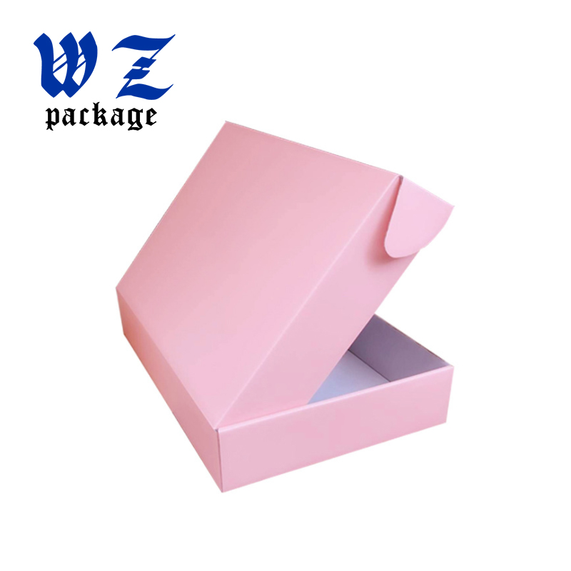 Custom Pink color clothing mailing packaging kraft paper box