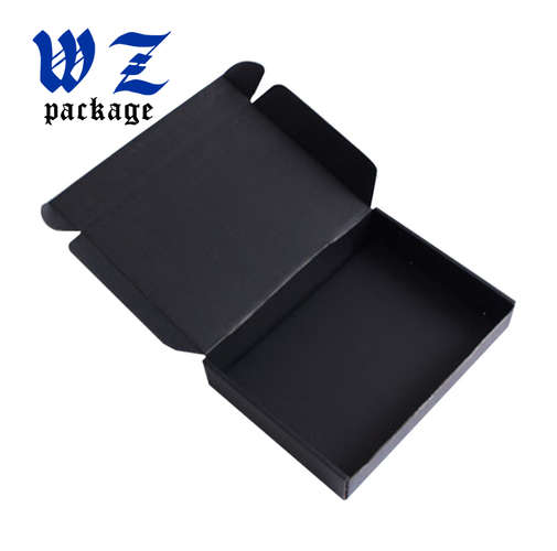 Custom Matt Black Paper Packaging Corrugated Box For Mailing