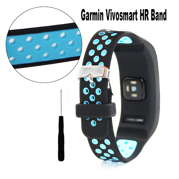 Garmin Vivosmart HR Band-Silicone Bracelet Wristband with Screwdriver for Garmin vivosmart HR