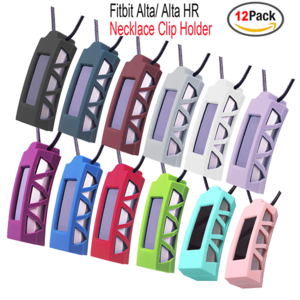 Fitbit Alta Clip Holder Necklace Silicone Pendants Clip Holder