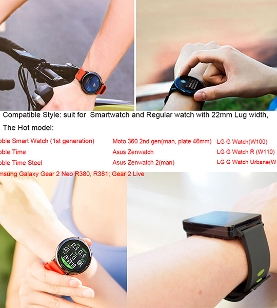 Quick Release 22mm smart watch bands-Adjustable Replacement Strap for Amazfit/Samsung Gear S3 Frontier/S3 Classic