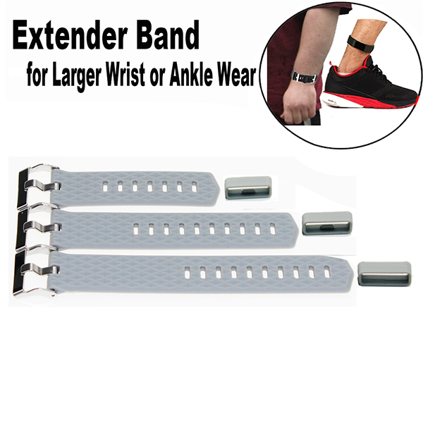 Ankle Wear bands Fitbit Charge 2 Extender Wristband Fitness Tracker Wristband-for Large Size Wrist or Ankle Wear 3 Pack with Different Length