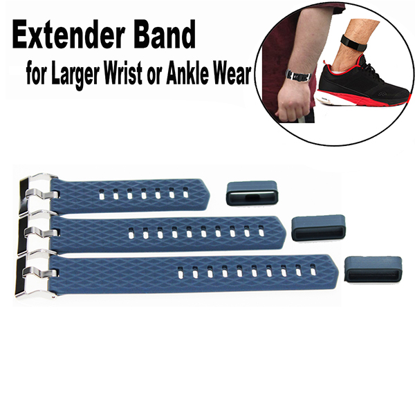 Band Extender  for Fitbit Charge 2 Fitness Tracker Wristband-for Large Size Wrist or Ankle Wear 3 Pack with Different Length