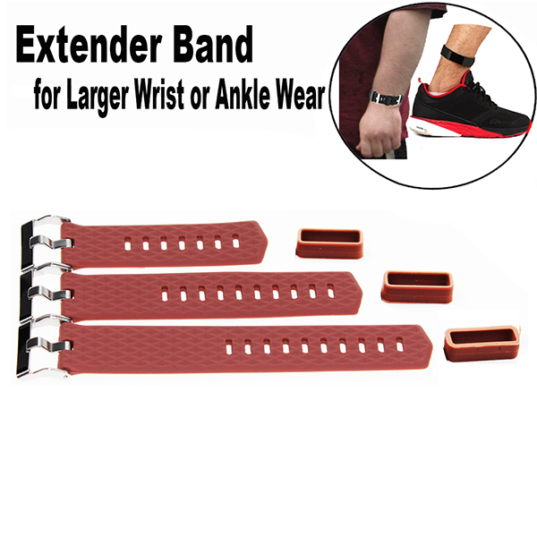 Larger wrist replacemet Bands for Fitbit Charge 2 Fitness Tracker Wristband-for Large Size Wrist or Ankle Wear 3 Pack with Different Length