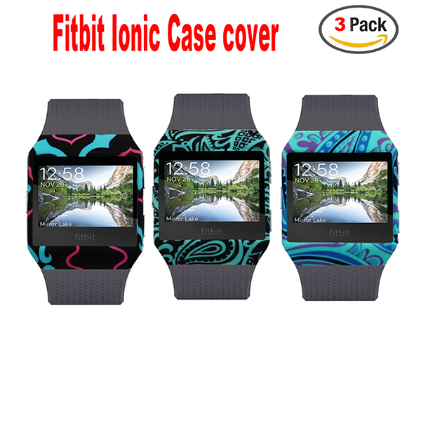 Fitbit Ionic Case Cover-Silicone Accessory Protective Case Frame Sleeve Shell For Fitbit Ionic