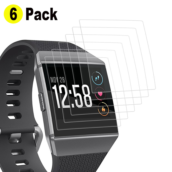 Fitbit Ionic Screen Protector(6-Pack)-Screen Protector Anti-Bubble Protective film for Fitbit Ionic Smart Watch