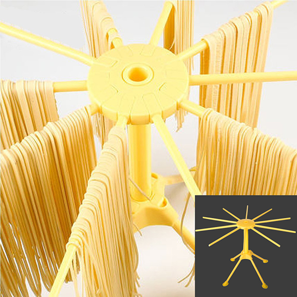 10 Arms Food Grade ABS Plastic Matrial Collapsible Spaghetti/Pasta Drying Rack or Household Noodle Dryer Stander Fram Holder